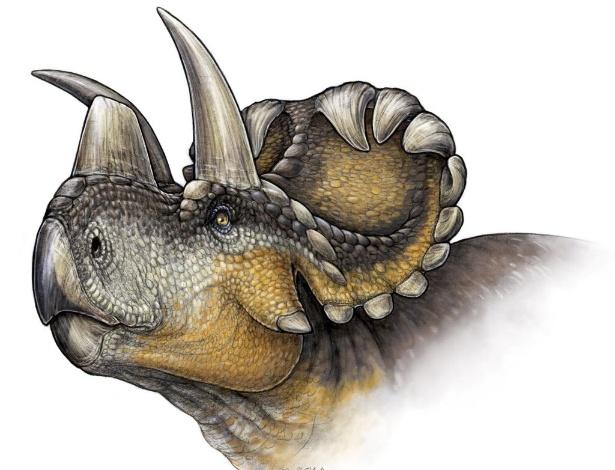 25ecde0bd5a Descoberto no Canadá novo dinossauro com chifres  ornamentais