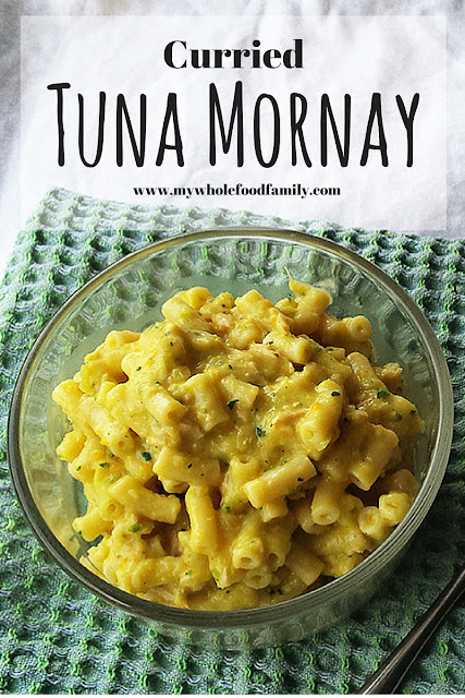 Curried tuna mornay - and how to choose the best sustainable tuna - from www.mywholefoodfamily.com