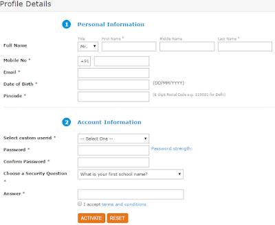 Application Form of SBI FreedomRewardz Points