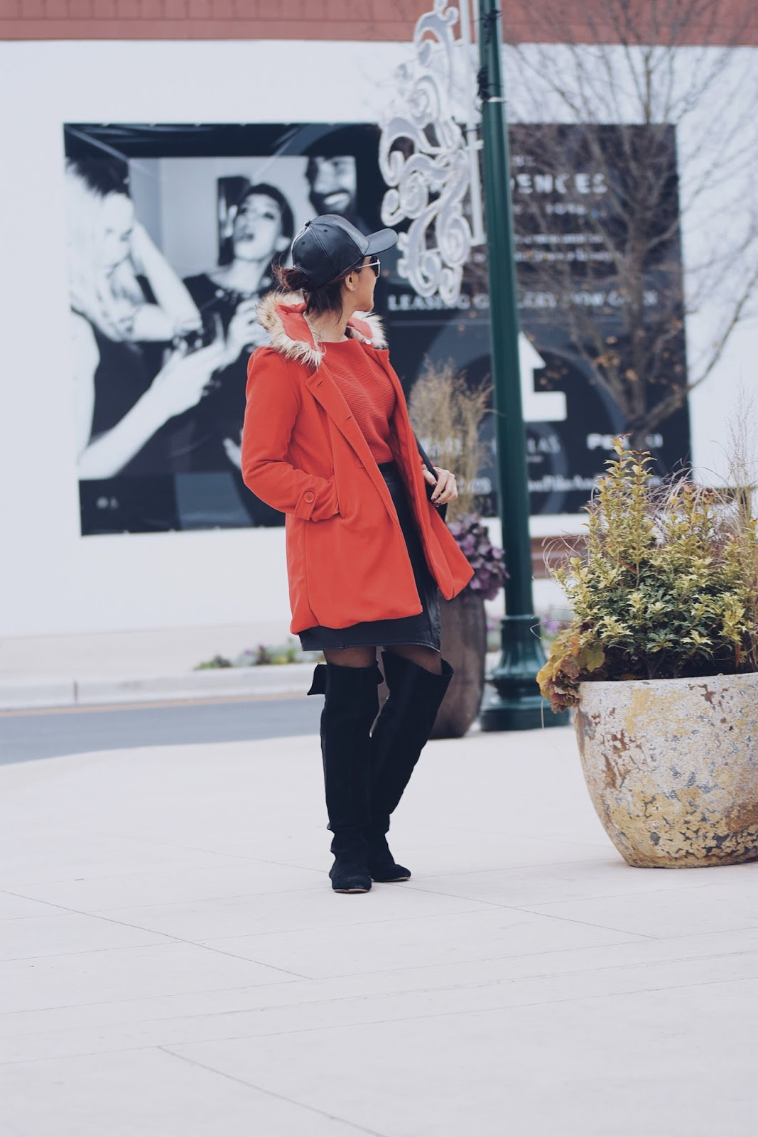 Styling a red coat by mariestilo- Wearing:  Red Coat: LightInTheBox  Mini Skirt: Choies
