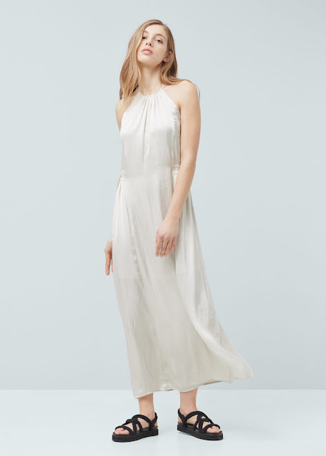 silver slip maxi dress, maxi slip dress, mango satin dress, satin slip dress, satin maxi dress,