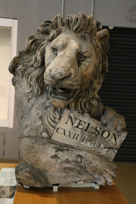 Coade stone lion,  Old Royal Naval College, Greenwich
