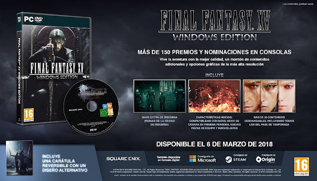 Ya disponible la demo jugable gratuita de Final Fantasy XV Windows Edition