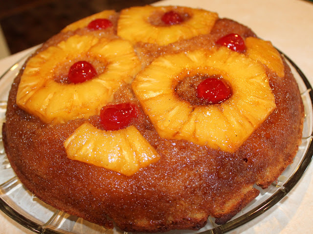 Serve Your Pineapple Upside Down Cake