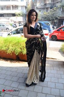 Actress Neetu Chandra Stills in Black Saree at Designer Sandhya Singh's Store Launch  0028.jpg
