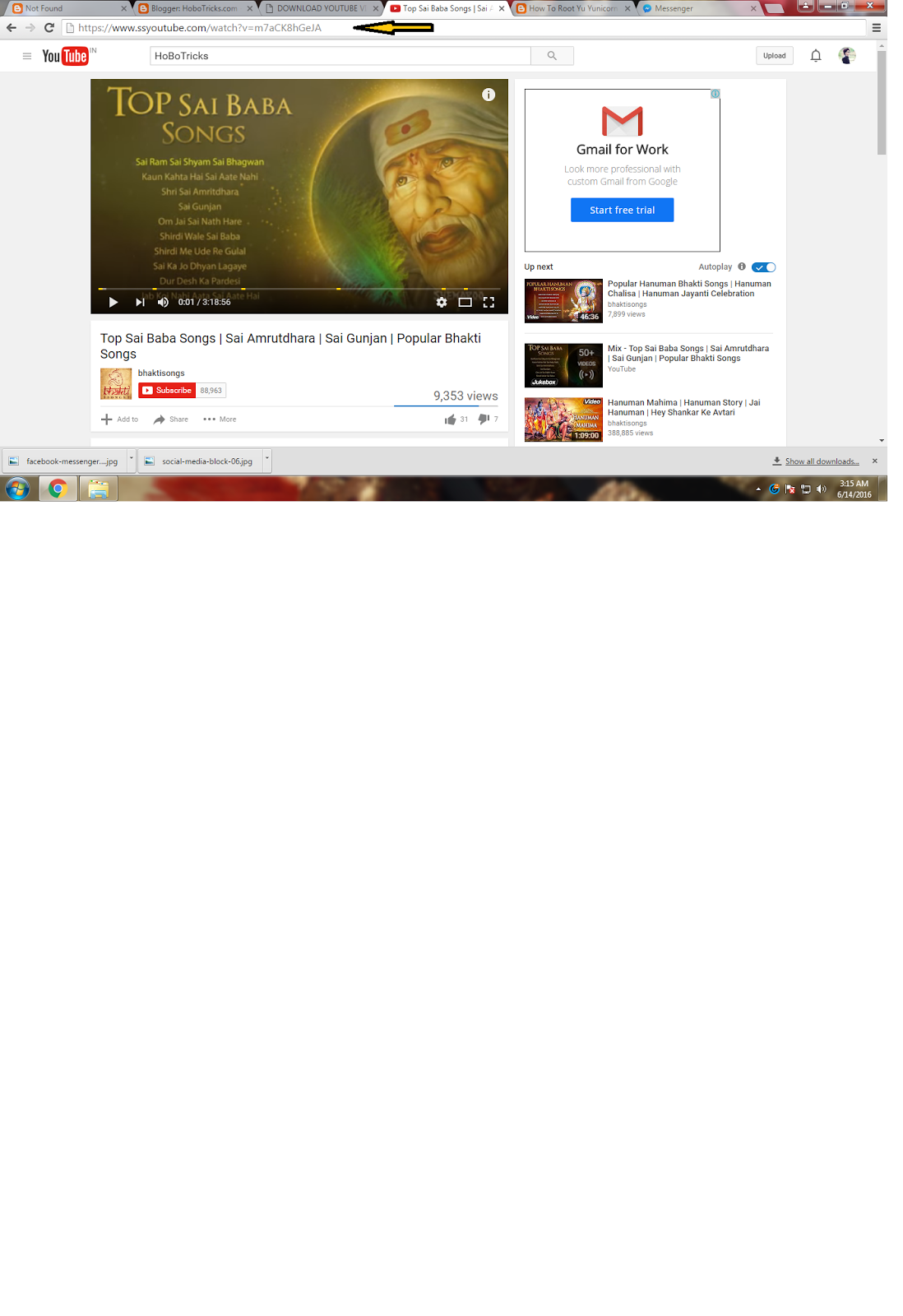 To Download Youtube Video Just Add Ss After  As Shown Below