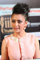 Akshara Haasan in Peachy Crop Top Choli Skirt at IIFA Utsavam Awards 60.JPG