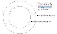 proses pembuatan logo, membuat objek dengan Ellipse Tool