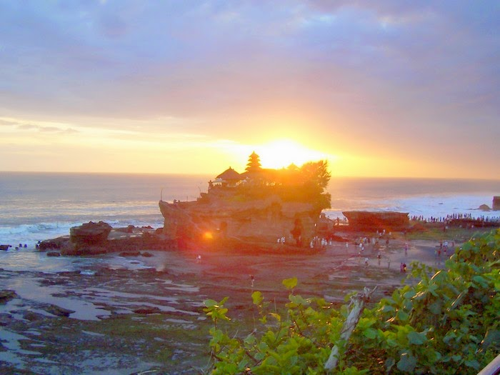 Sunset in Tanah Lot Temple, Bali Indonesia
