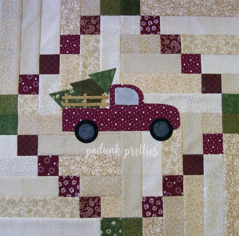 Podunk Pretties: Inspired Christmas trees and trucks : vintage christmas quilt - Adamdwight.com