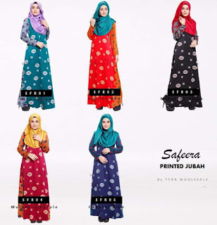 SAFEERA TURKISH PRINT JUBAH SOLD OUT