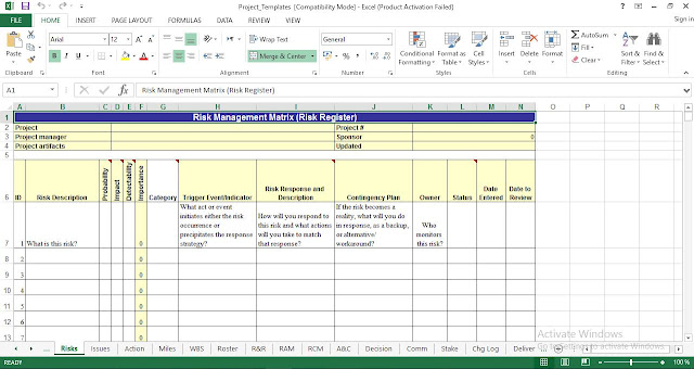 Download Project Management Free Templates