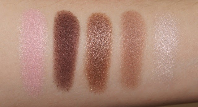 dior 5 couleurs eyeshadow palette 754 rosy tan swatches review warm brown pink frosted pearl shades