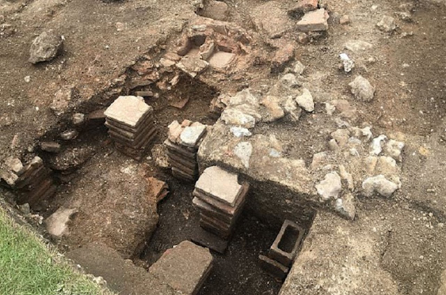 Private bath house from Roman Chichester unearthed