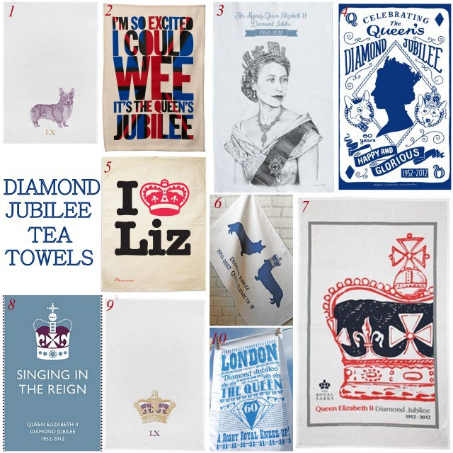 Diamond Jubilee tea towels