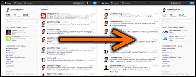 Restored Twitter layout