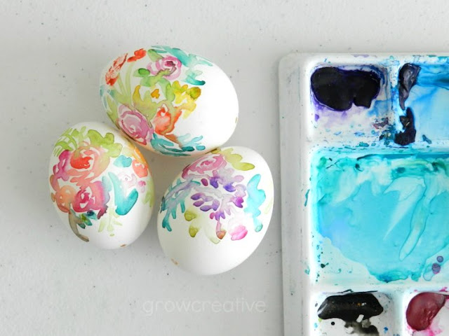Paint Easter Eggs with Watercolors: growcreative