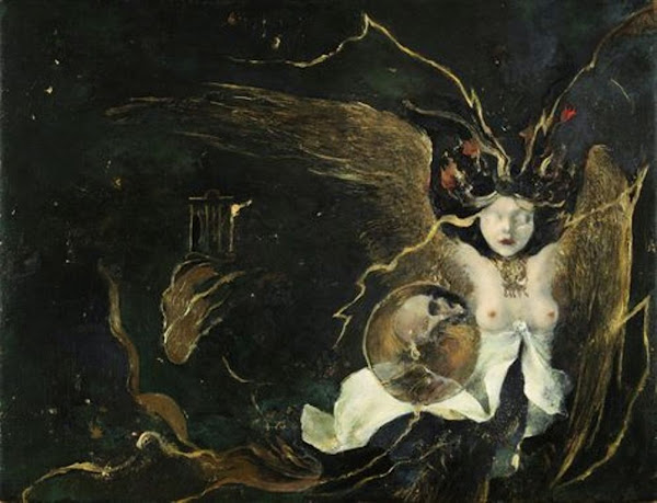 The Slant Serpent, Denis Forkas Kostromiti, Macabre Art, Macabre Paintings, Horror Paintings, Freak Art, Freak Paintings, Horror Picture, Terror Pictures
