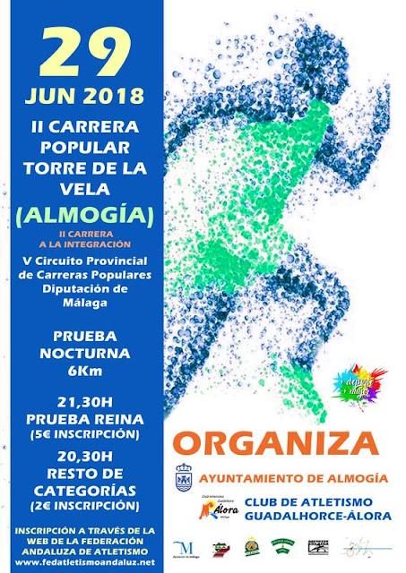 Carrera Popular Nocturna en Almogía 2018
