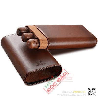 Bao da đựng xì gà Cohiba loại 3 điếu PT3009 (quà tặng sếp)