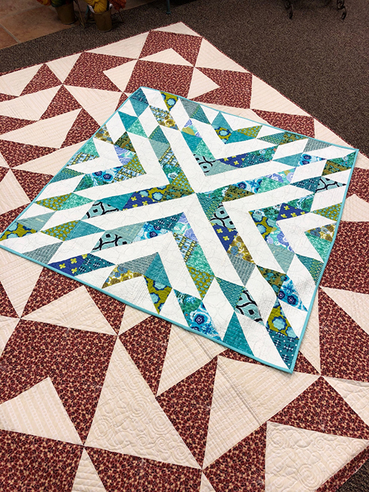Free 100 Blocks Quilt designed by Brenda Shreve for APQS Oklahoma |Red Barn Quilting