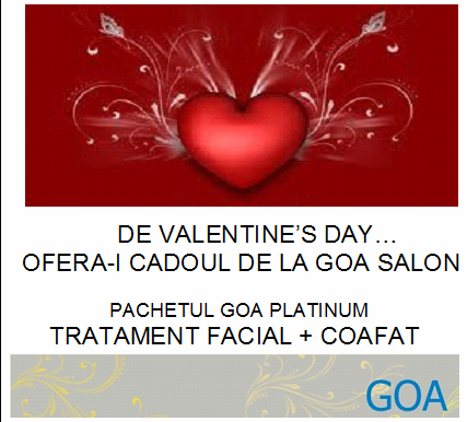 goa salon berceni cadou de valentine 39 s day de la goa salon. Black Bedroom Furniture Sets. Home Design Ideas