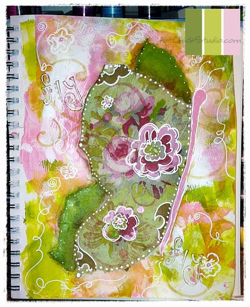 ButterFly Art Journal Mixed Media
