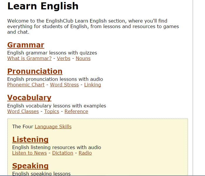 Sefika's Blog: English Club : Learn English