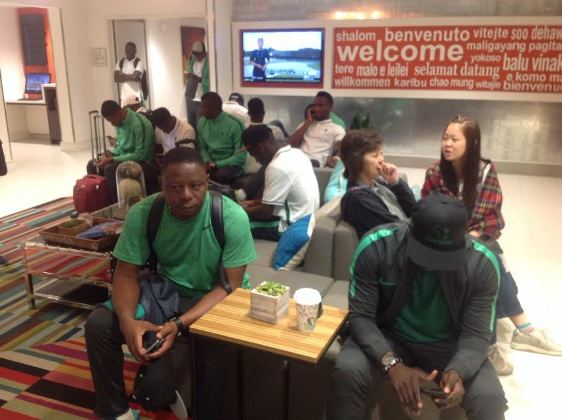 Photos: Stranded Nigeria U23 team about to depart from Atlanta to Rio