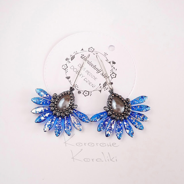 kolczyki wachlarze | kolczyki dagger beads