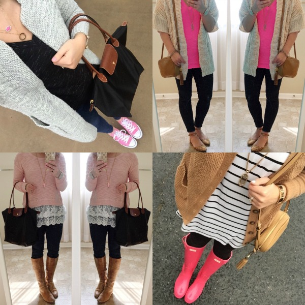 hunter boots, converse, pink sweater, spring style