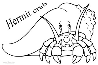 H For Hermit Crab Coloring Sheet Download