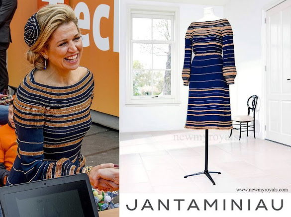 Queen Maxima wore JanTaminiau dress