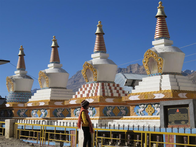 Stupas infront of the monastery