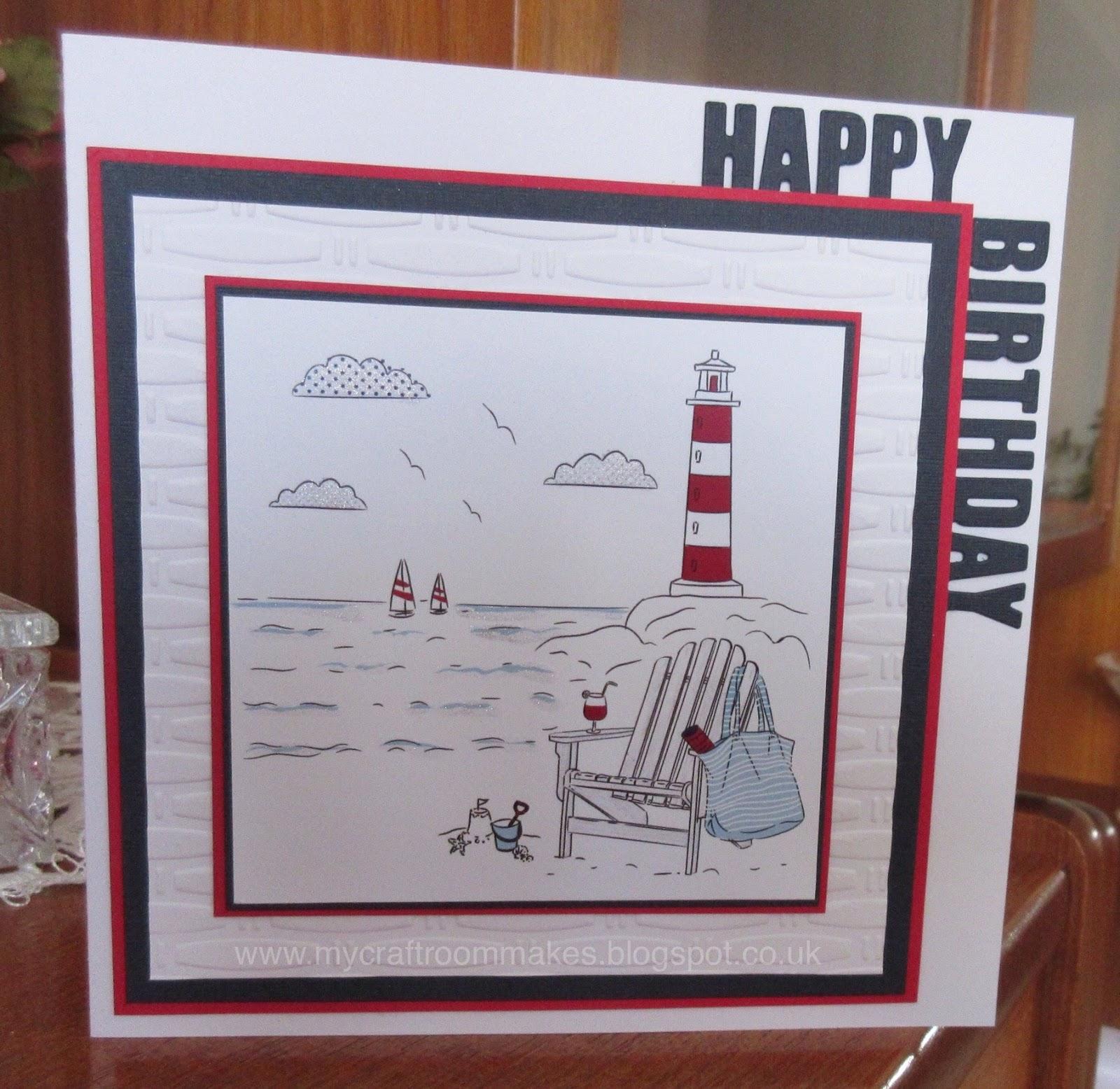 My Craft Room Makes Male Birthday Card