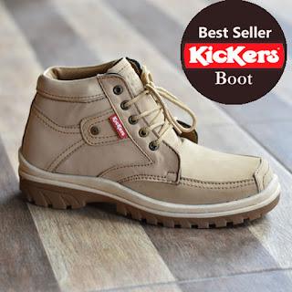sepatu kicker boot cream