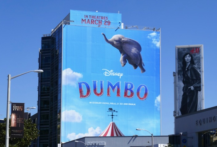 Giant Disney Dumbo movie billboard
