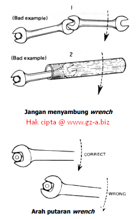 Cara Aman Menggunakan Kunci Pas / Wrenches