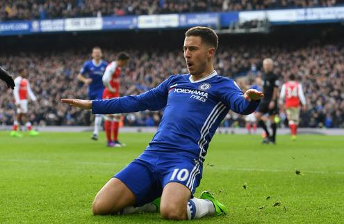 Selebrasi Eden Hazard terlihat Ganteng kala mencetak gol kedua Chelsea