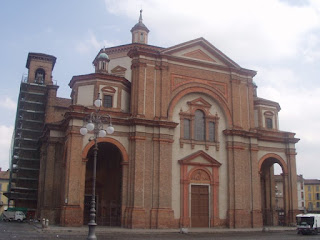 The remodelled cathedral in the town of Voghera in Lombardy
