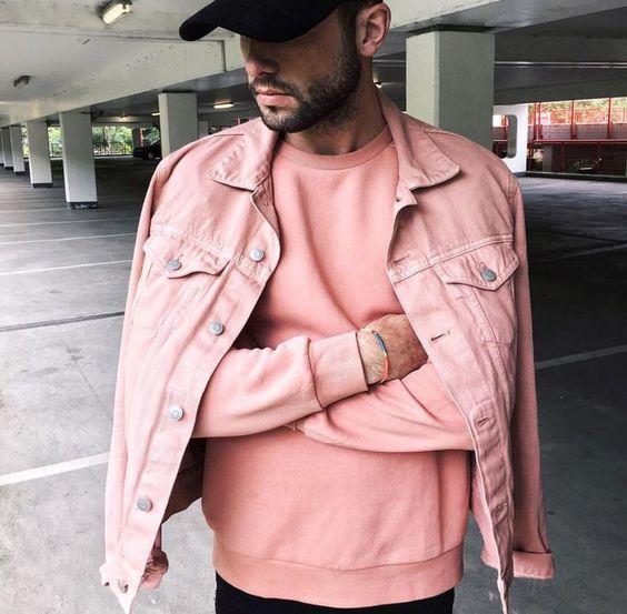 O rosa pastel é uma das Tendências de Cores para o Verão 2018 na Moda Masculina.