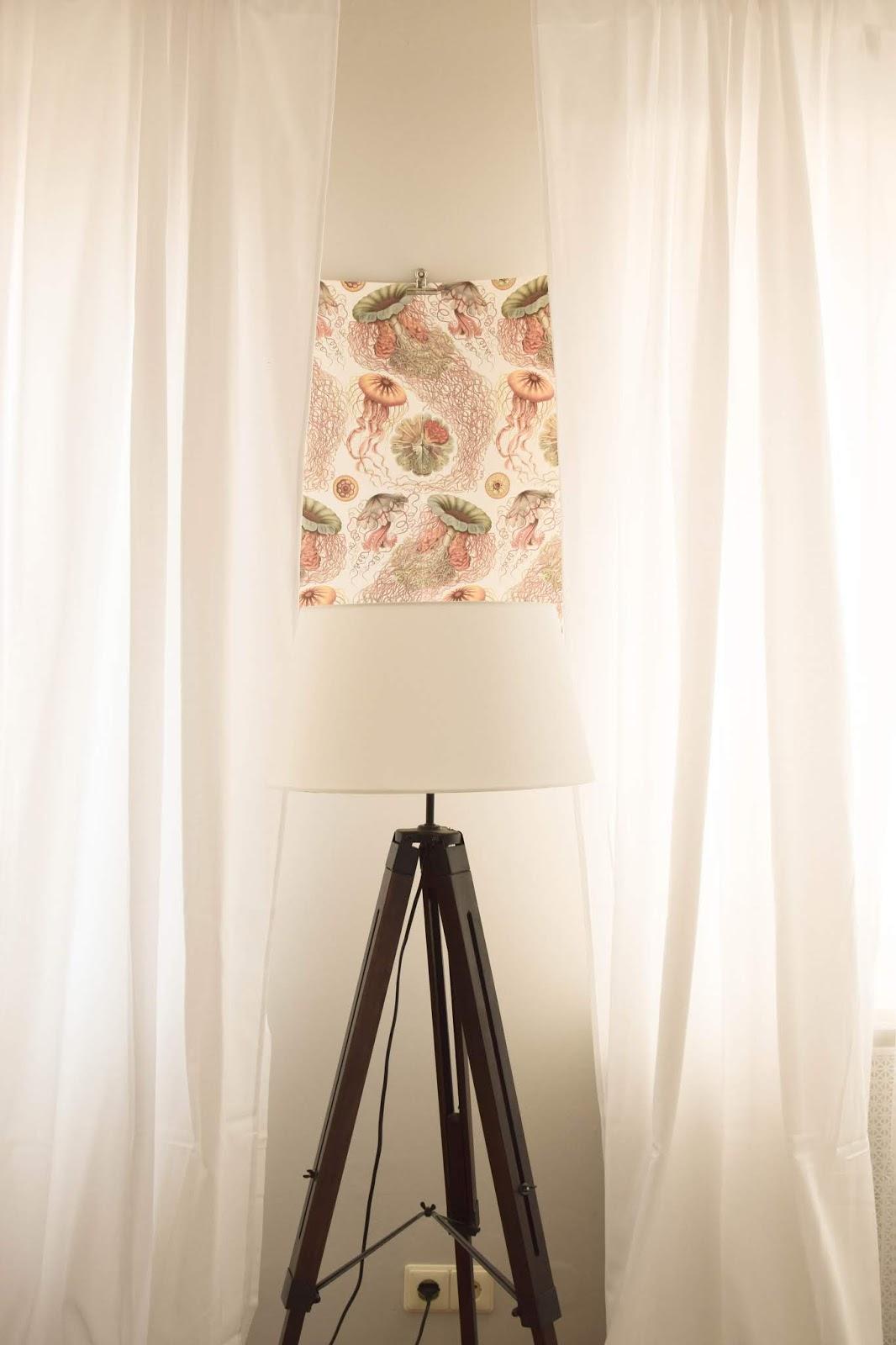 Wanddeko Dekoidee Wand Bilder Poster botanisch Drucke Stehlampe Wandgestaltung günstig einfach schnell