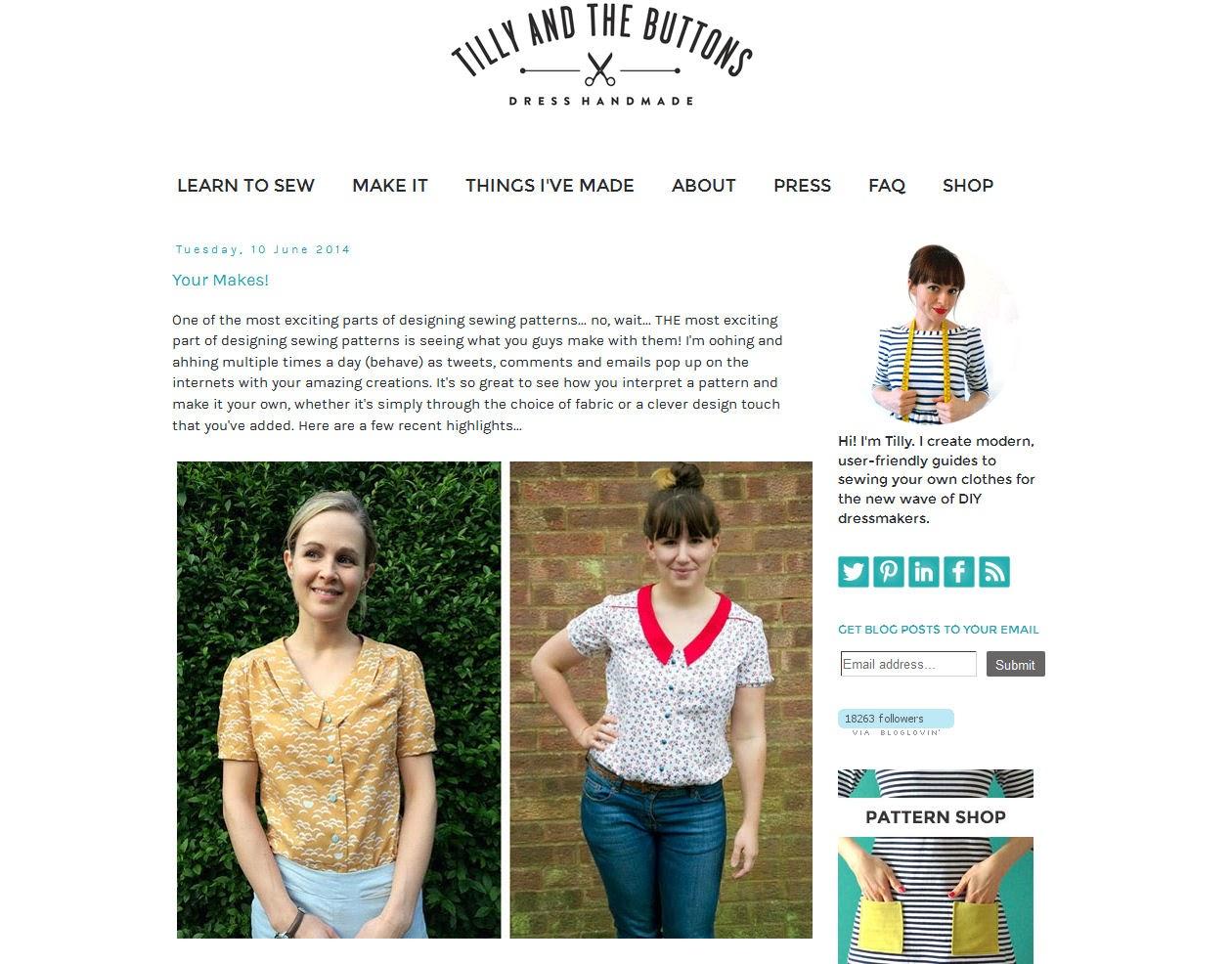 Modern dressmaker buttons - Tilly And The Buttons
