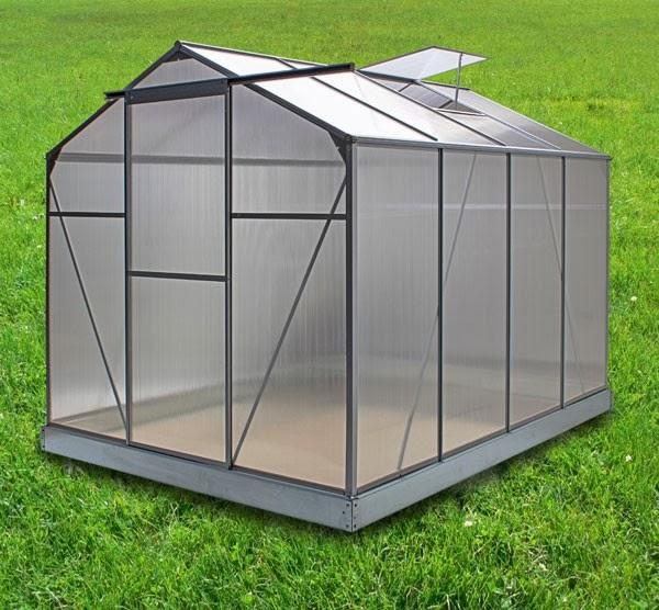s p alu gew chshaus mit 4 mm hohlkammerplatten lxbxh 250x190x185 cm. Black Bedroom Furniture Sets. Home Design Ideas