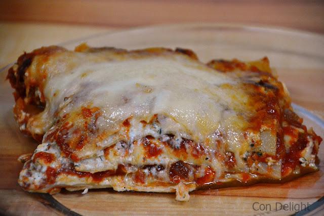 לזניה עם גבינות lasagna with cheeses