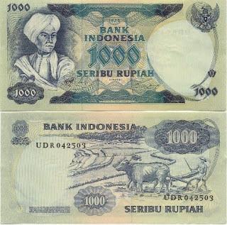 Uang Rp 1000,00 Tahun 1975
