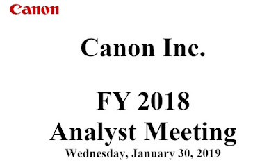 Canon Financial Results 2018