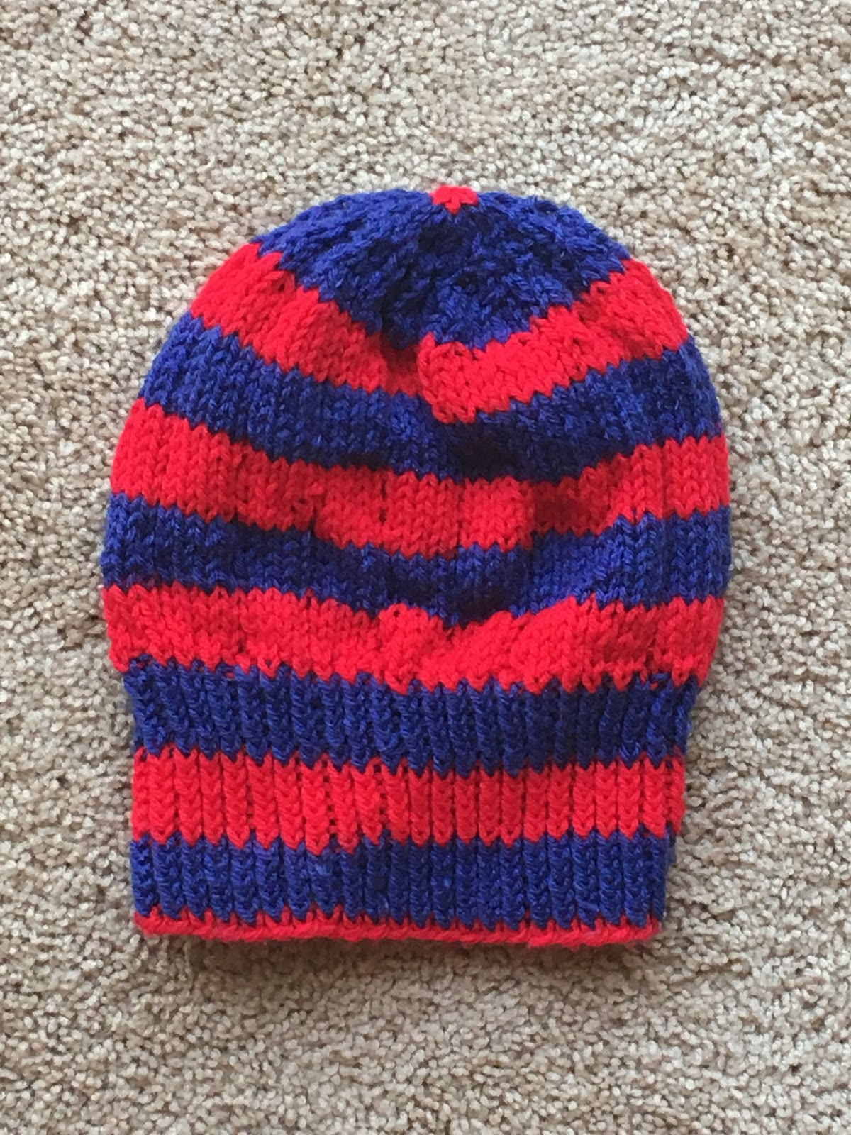 Knitting Patterns For Crazy Hats : Crazy Knitting Fool: FO: Giants Bankhead Hat