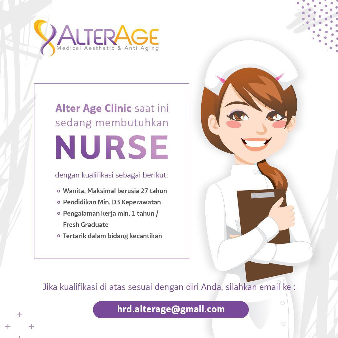 Lowongan Kerja Medan Terbaru Nurse Di Alter Age Clinic Medanloker Com Lowongan Kerja Medan