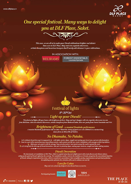 This Diwali, DLF Place, Saket brings to you endless reasons to brighten up your celebrations